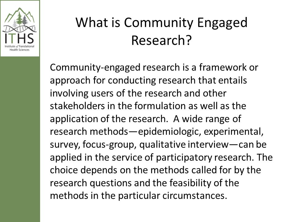 What is Community Engaged Research