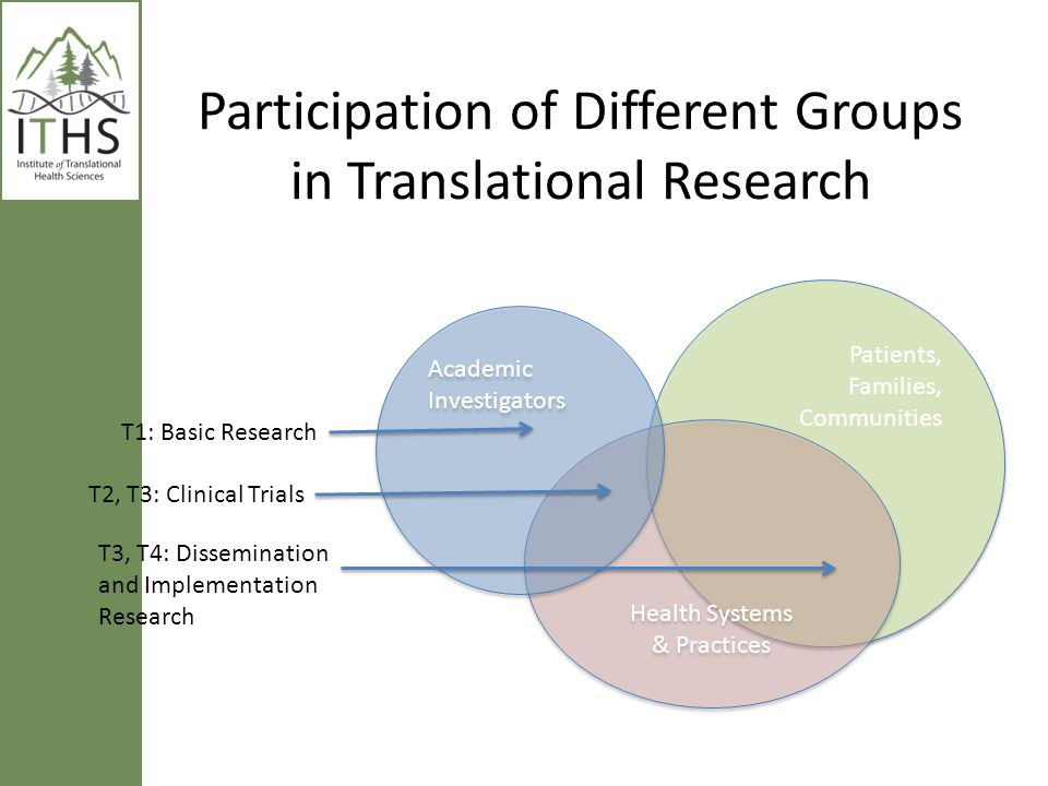 Participation of Different Groups in Translational Research