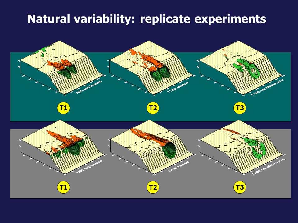 Natural variability: replicate experiments
