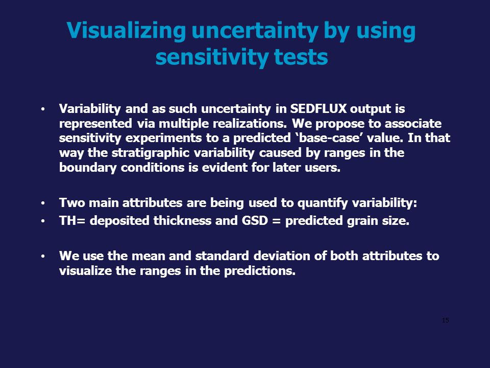 Visualizing uncertainty by using sensitivity tests