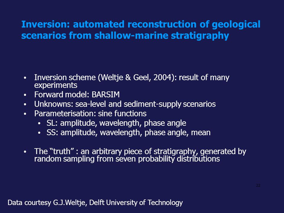 Inversion: automated reconstruction of geological scenarios from shallow-marine stratigraphy