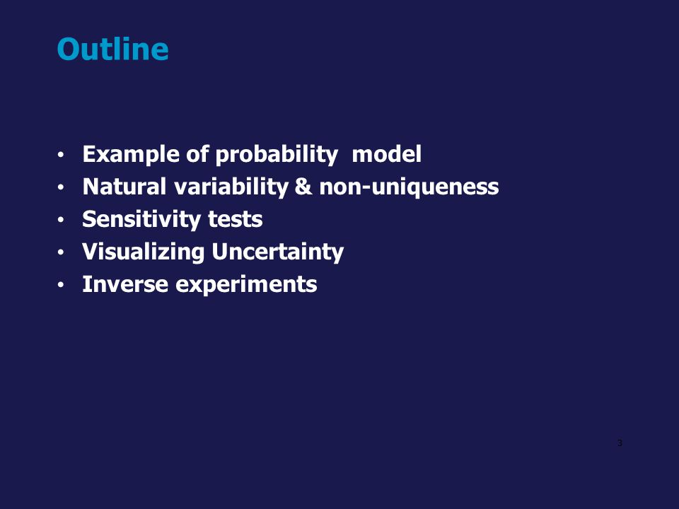 Outline Example of probability model
