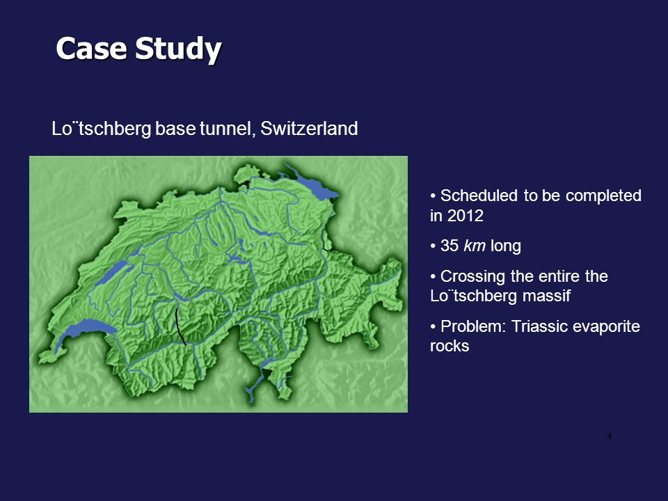 Case Study Lo¨tschberg base tunnel, Switzerland
