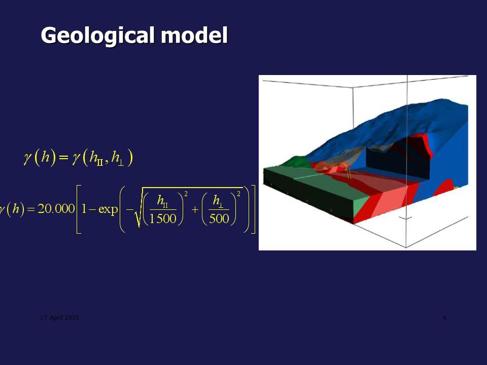 Geological model 11 April 2017