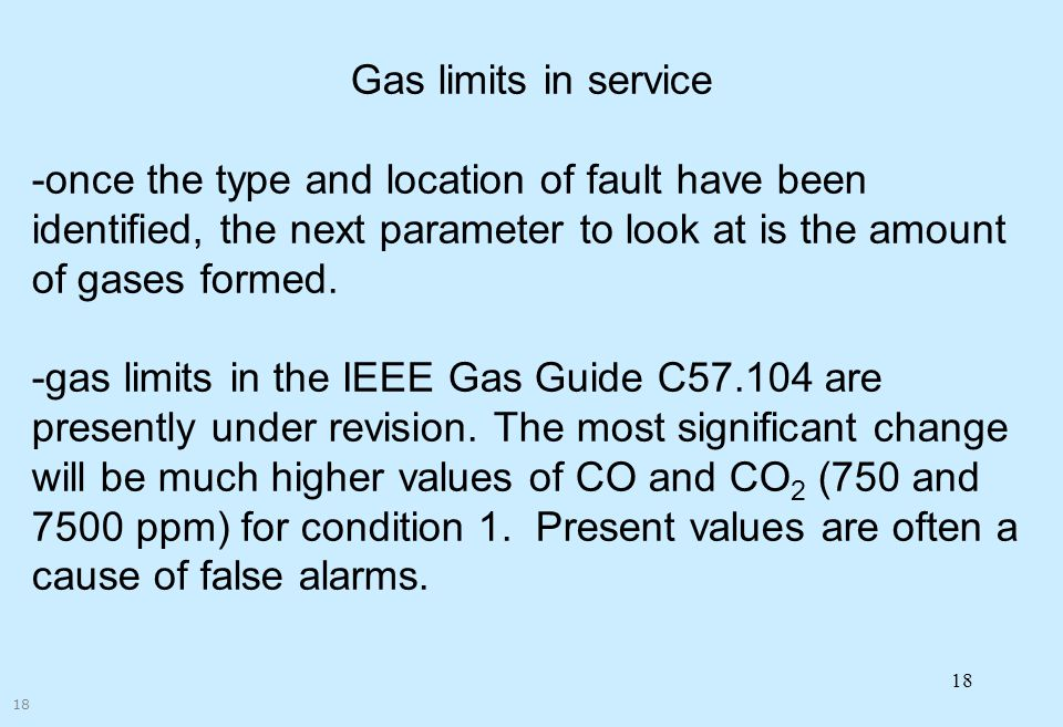 Corporate Overview Gas limits in service.