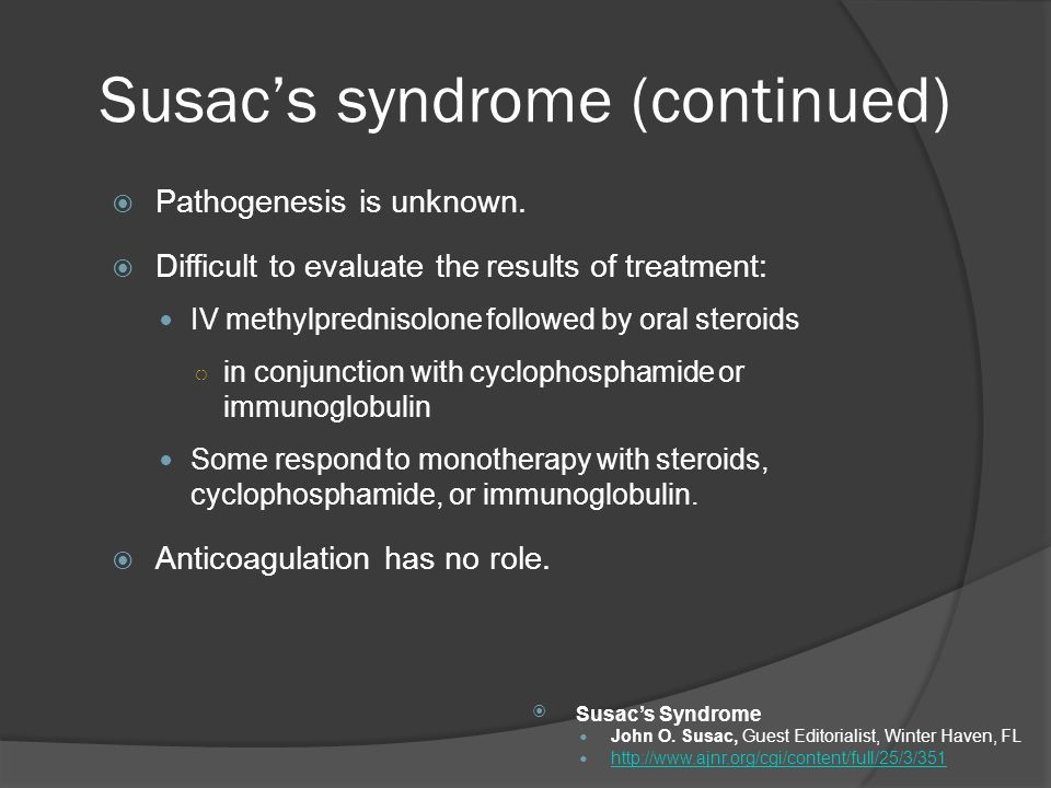 Susac's syndrome (continued)