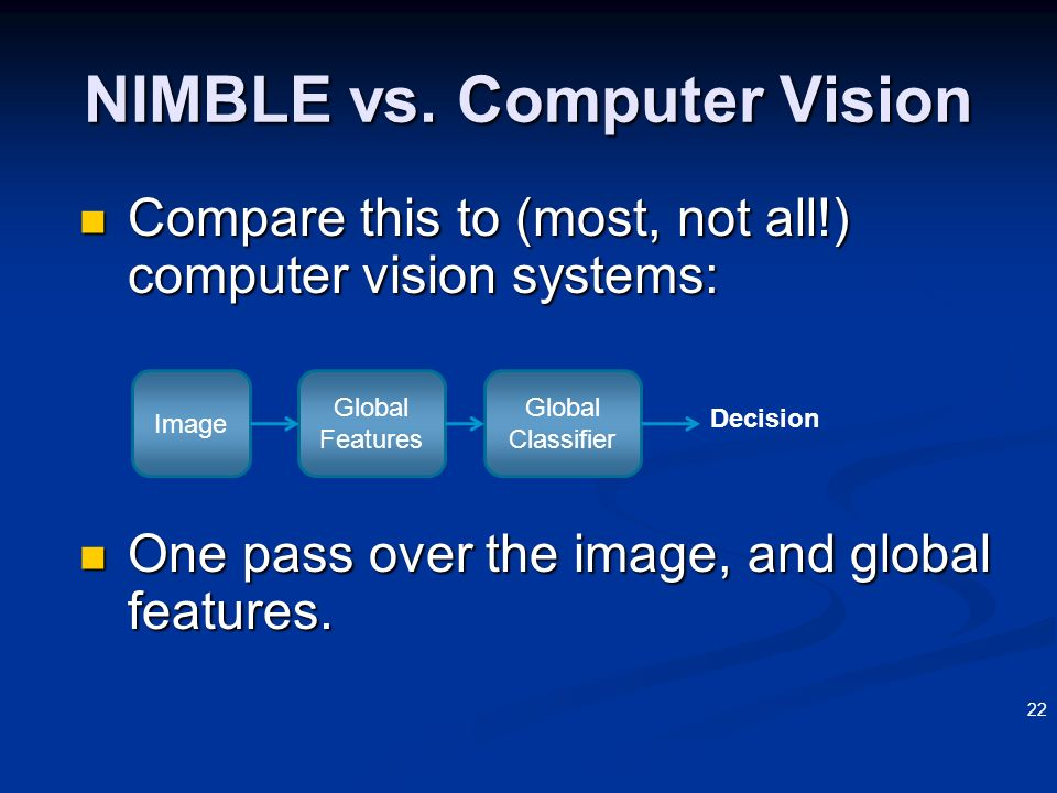NIMBLE vs. Computer Vision