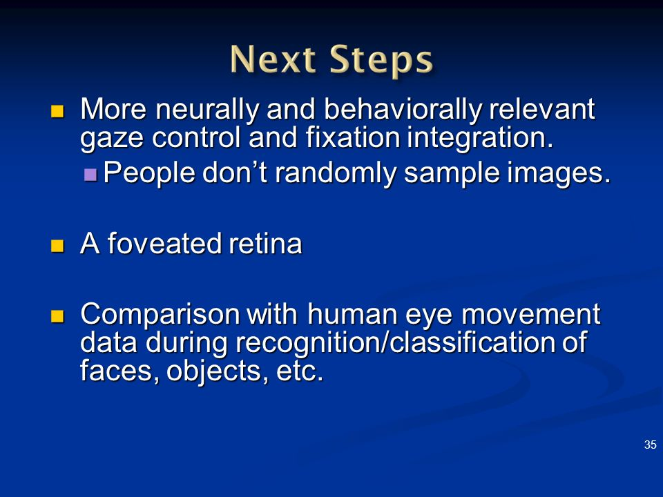 People don't randomly sample images. A foveated retina