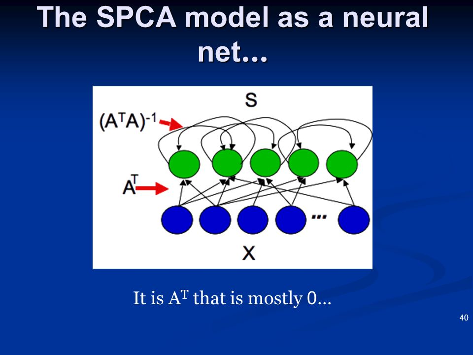 The SPCA model as a neural net…