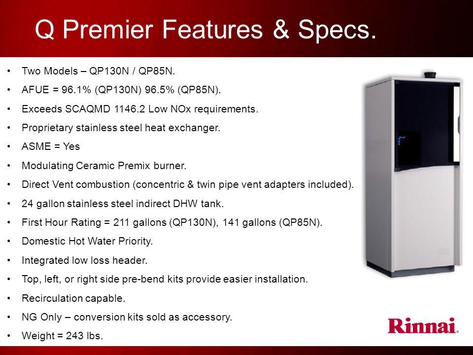Q Premier Features & Specs.