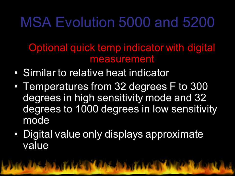 Optional quick temp indicator with digital measurement