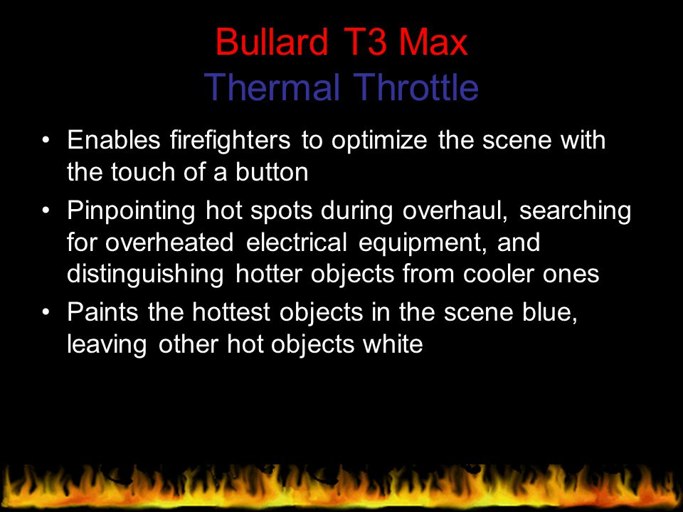 Bullard T3 Max Thermal Throttle