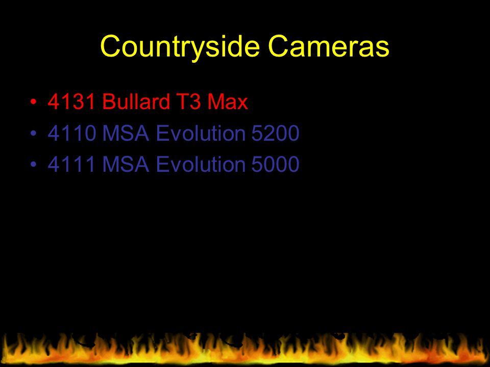 Countryside Cameras 4131 Bullard T3 Max 4110 MSA Evolution 5200
