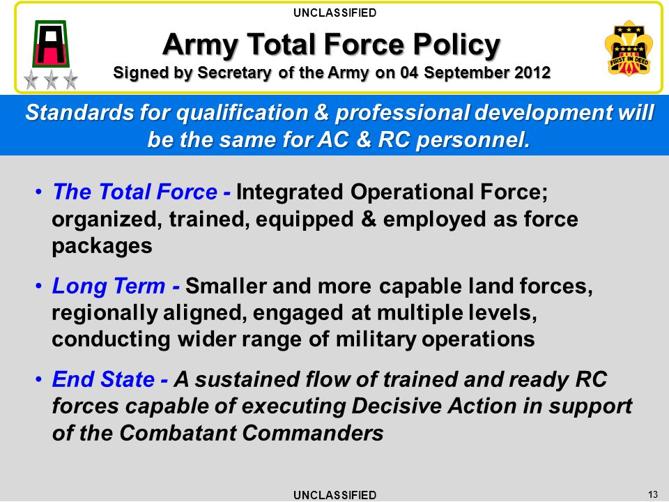 Army Total Force Policy