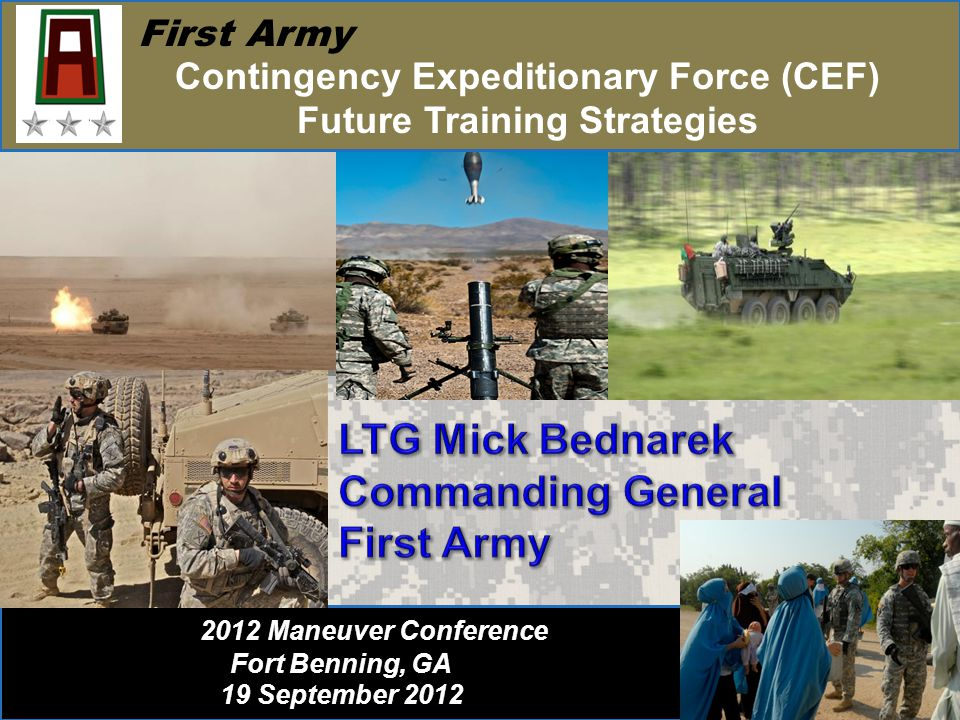 Contingency Expeditionary Force (CEF) Future Training Strategies