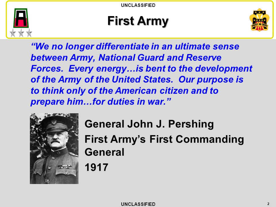 First Army General John J. Pershing