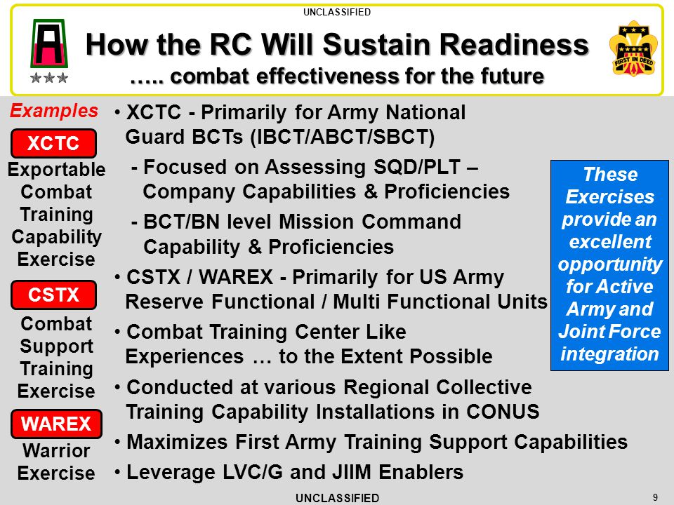 How the RC Will Sustain Readiness