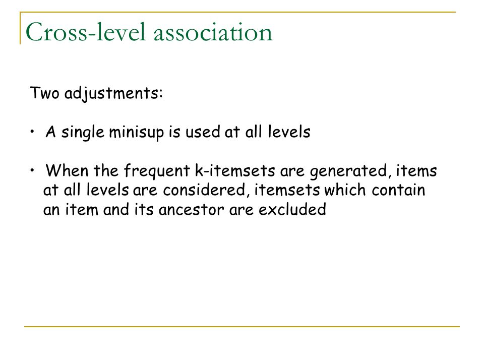 Cross-level association