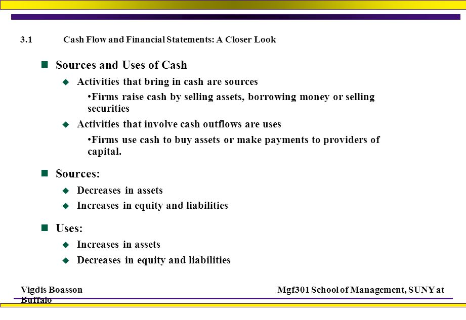 3.1 Cash Flow and Financial Statements: A Closer Look
