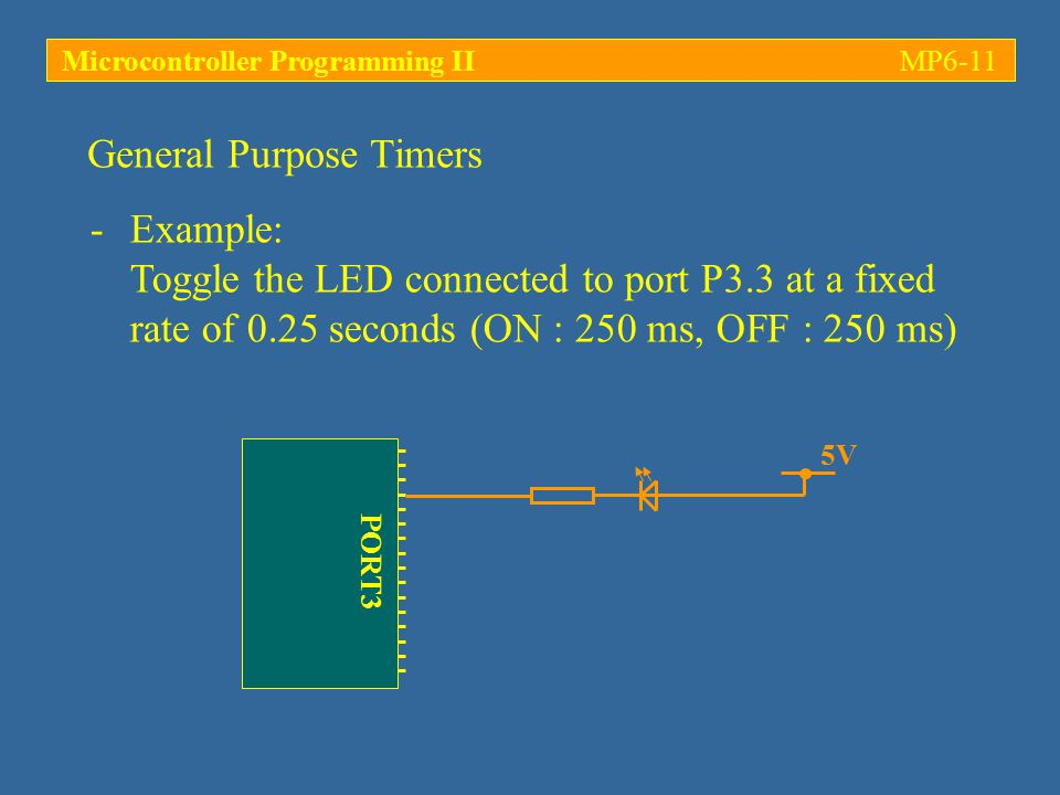Microcontroller Programming II MP6-11