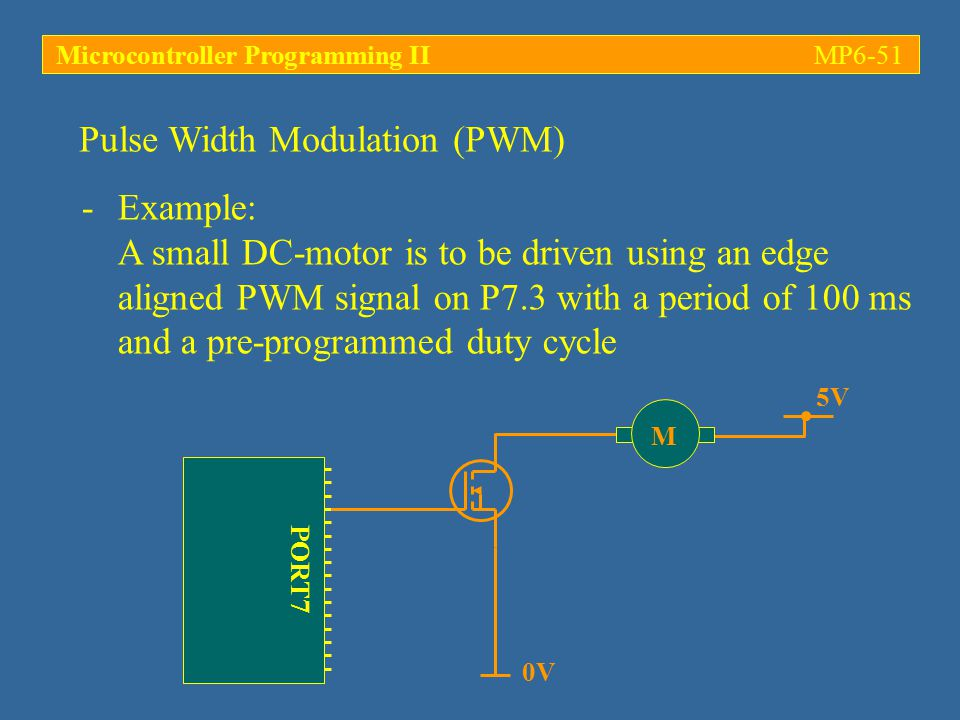 Microcontroller Programming II MP6-51