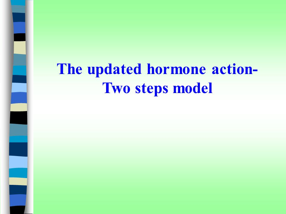 The updated hormone action-Two steps model