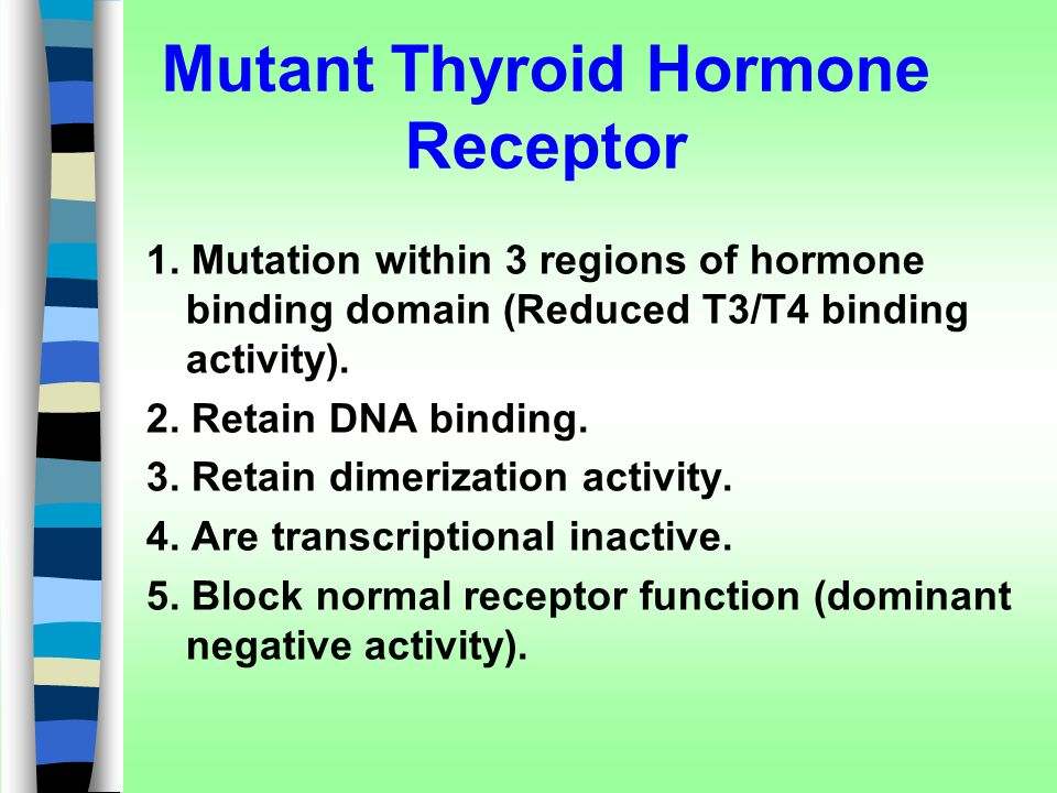 Mutant Thyroid Hormone Receptor
