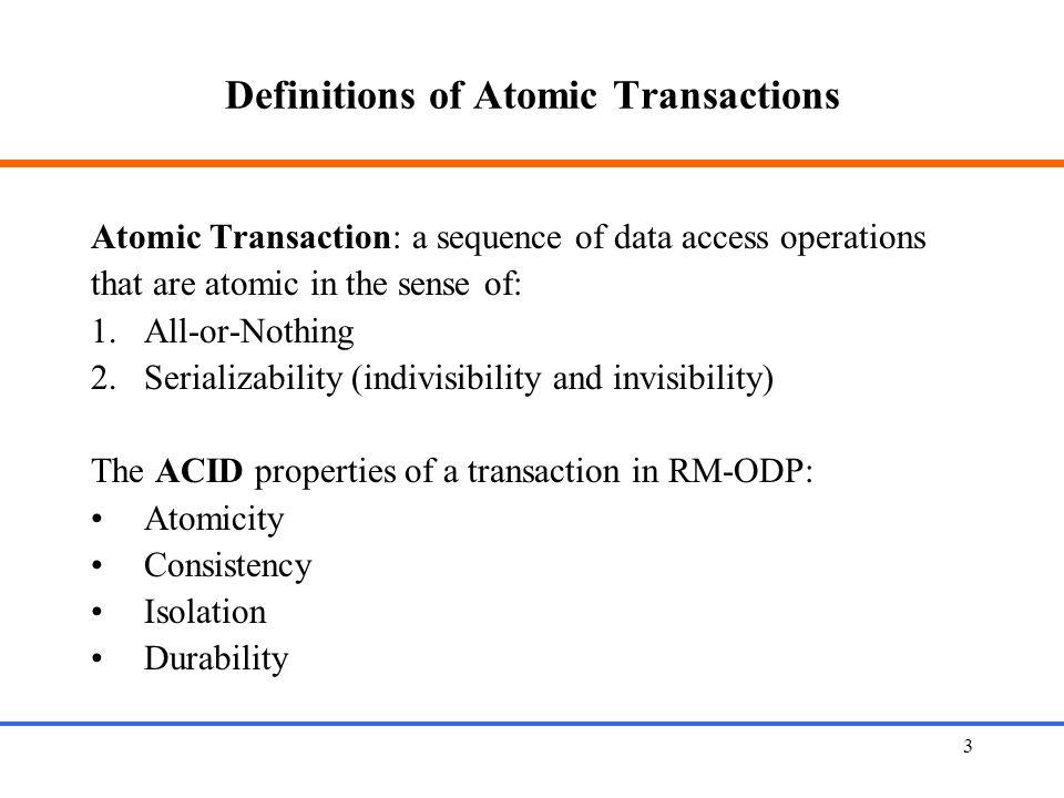 Definitions of Atomic Transactions