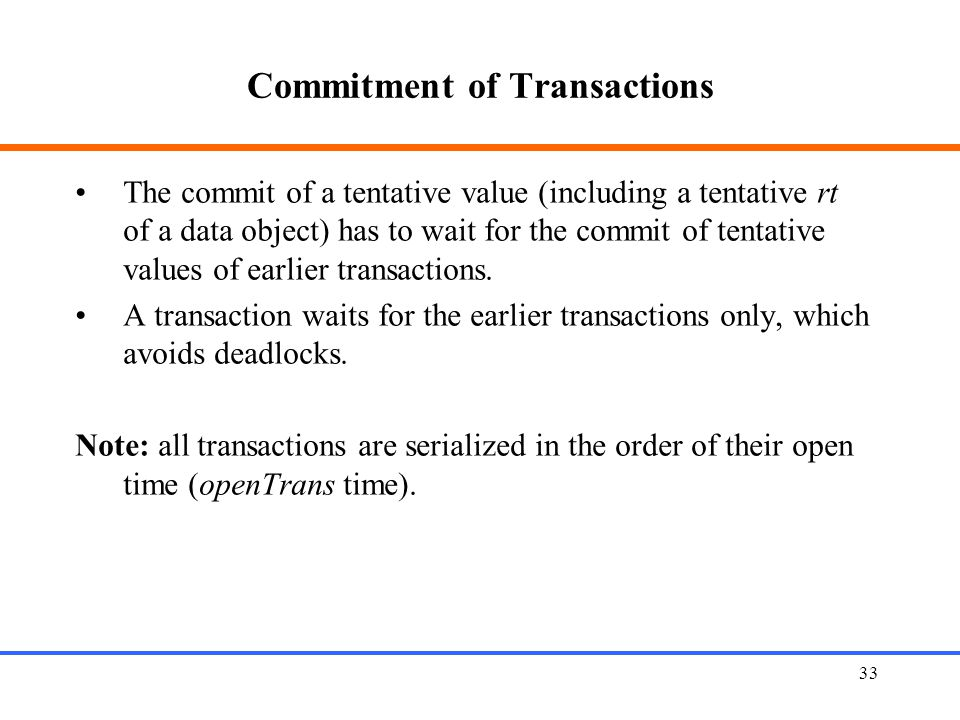 Commitment of Transactions