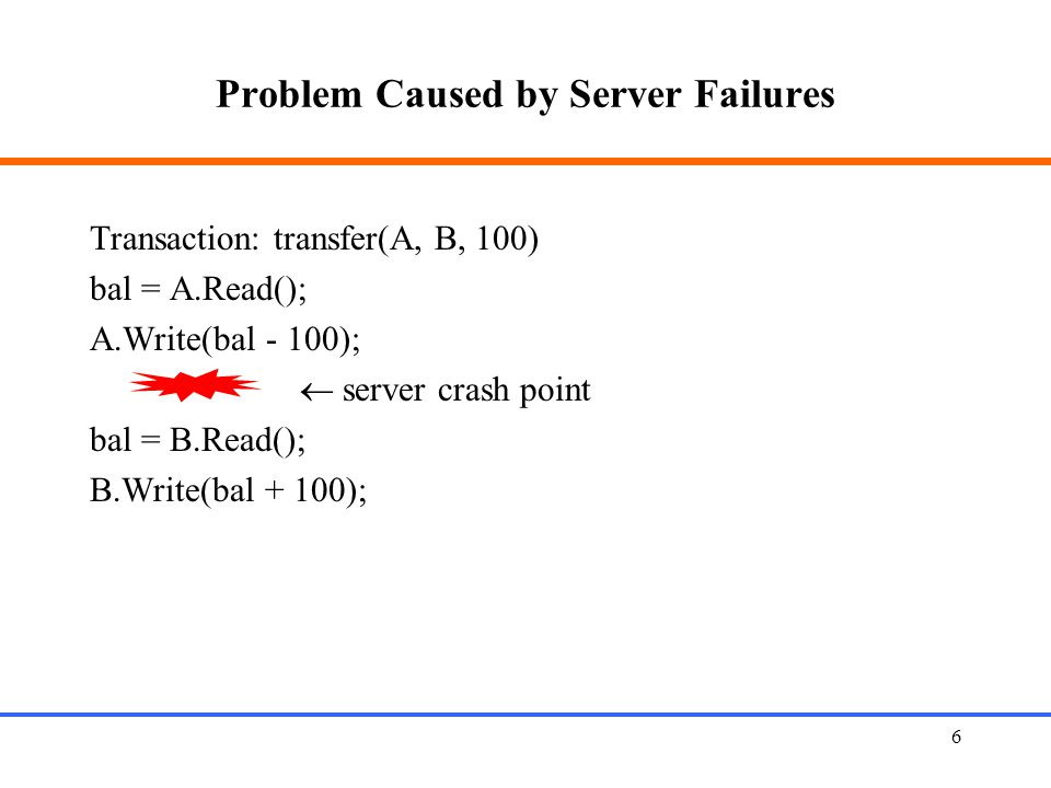 Problem Caused by Server Failures
