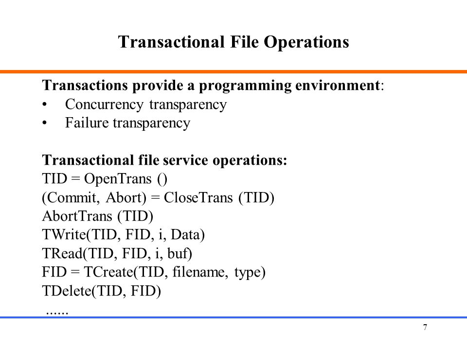 Transactional File Operations