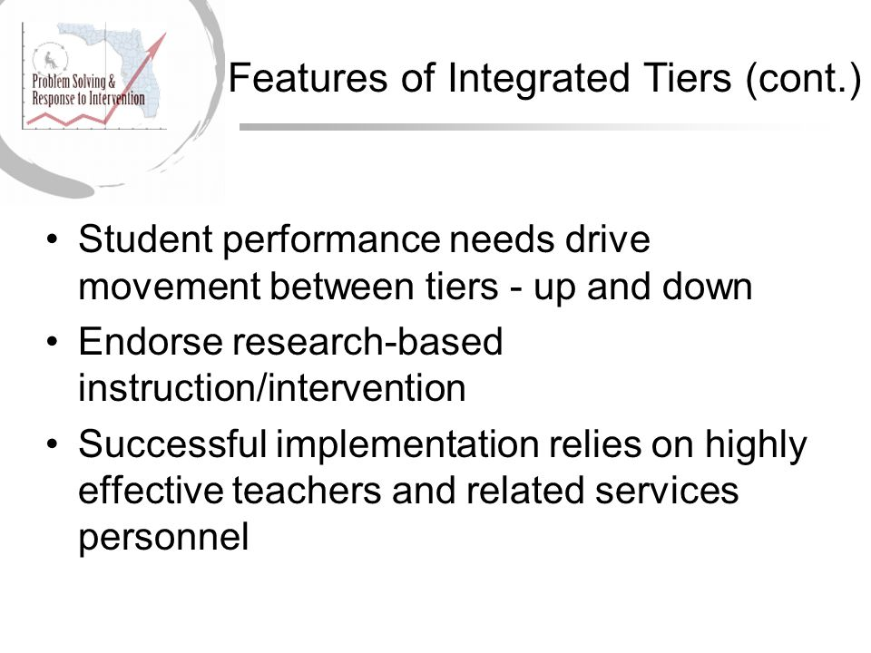 Features of Integrated Tiers (cont.)