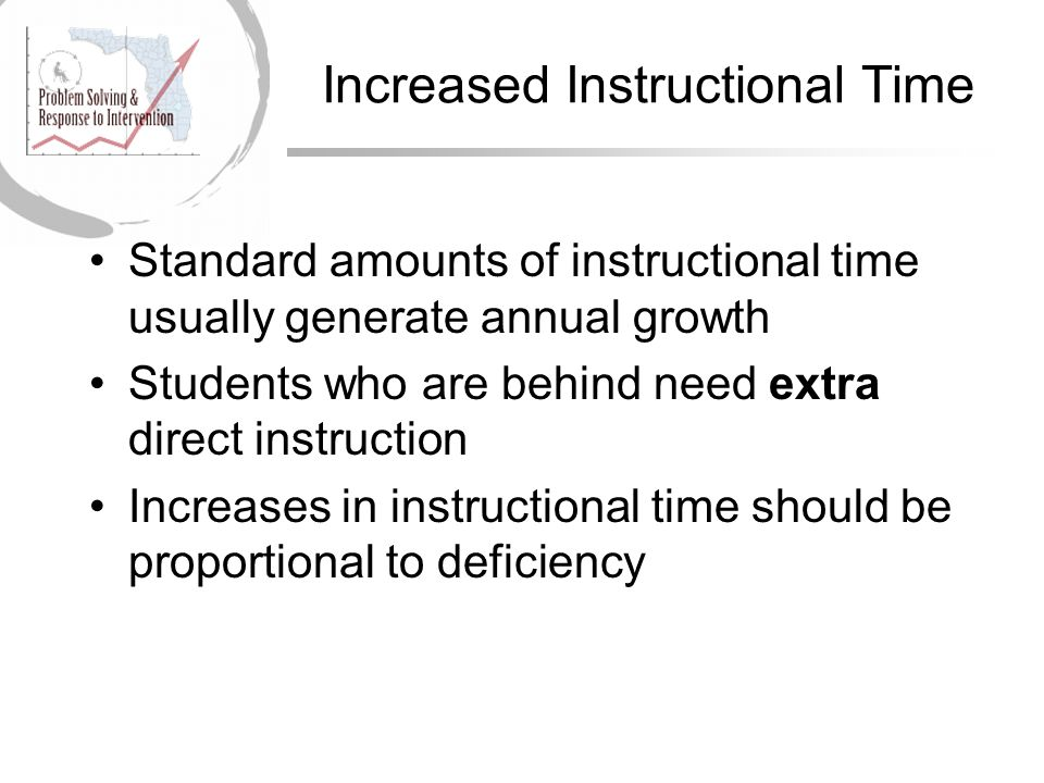 Increased Instructional Time