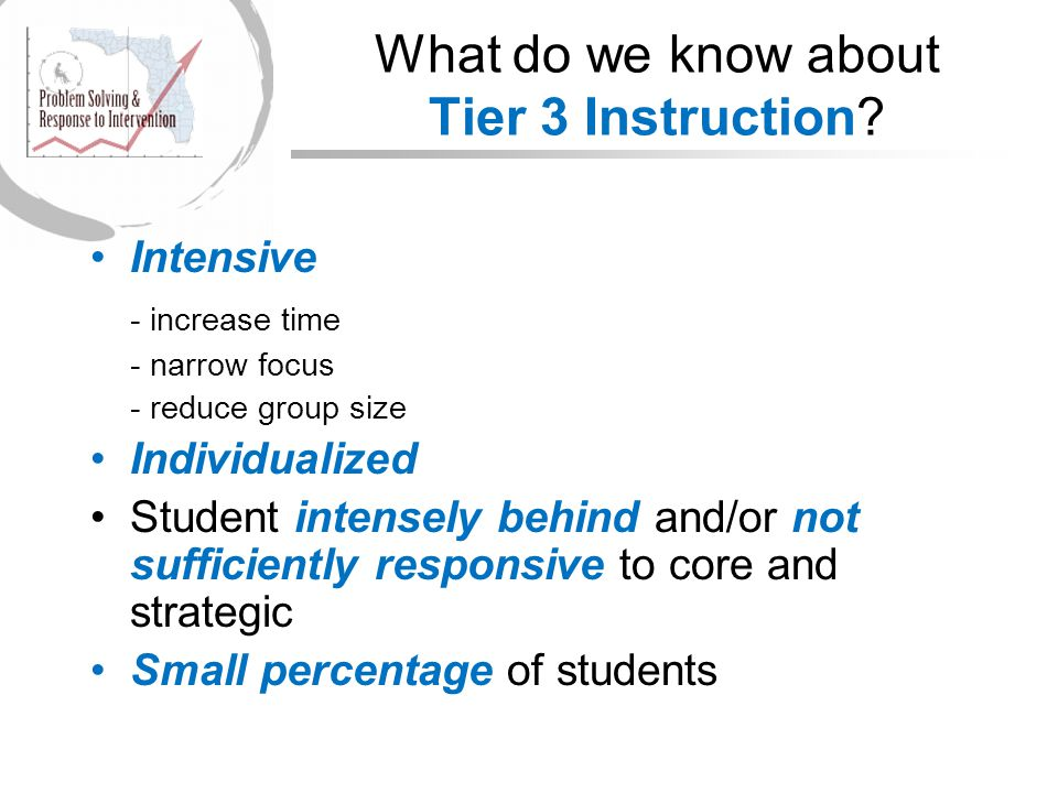 What do we know about Tier 3 Instruction