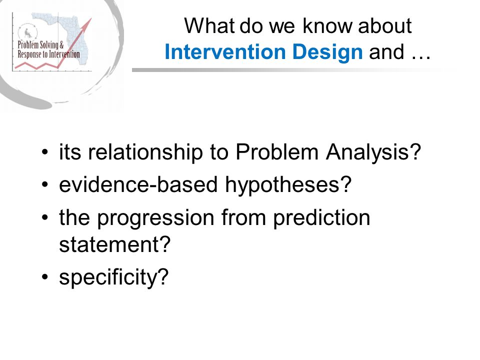 What do we know about Intervention Design and …