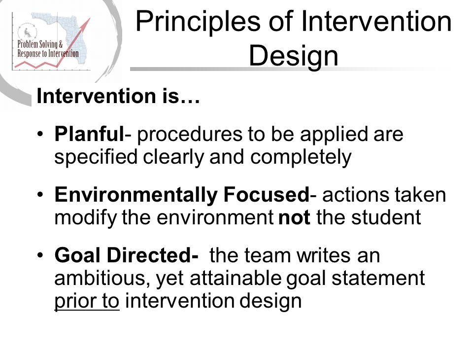 Principles of Intervention Design