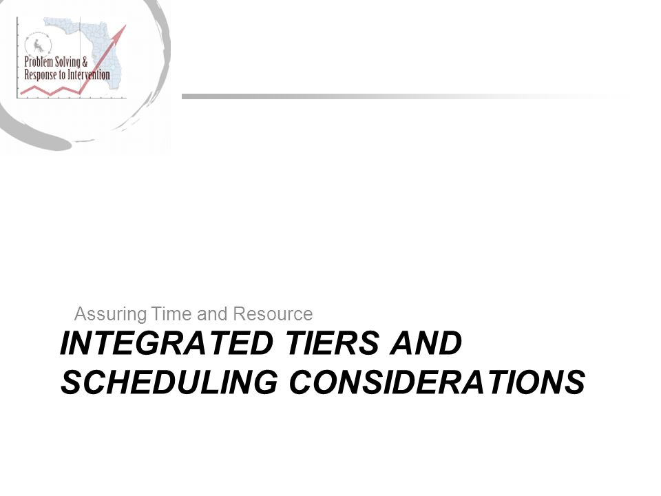 INTEGRATED TIERS AND SCHEDULING CONSIDERATIONS
