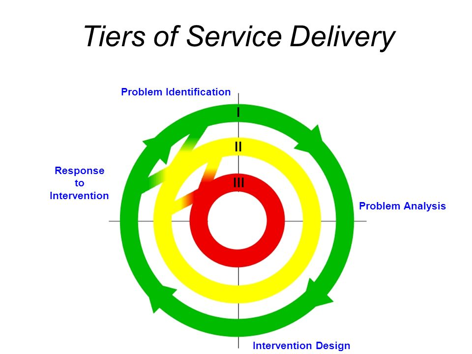 Tiers of Service Delivery