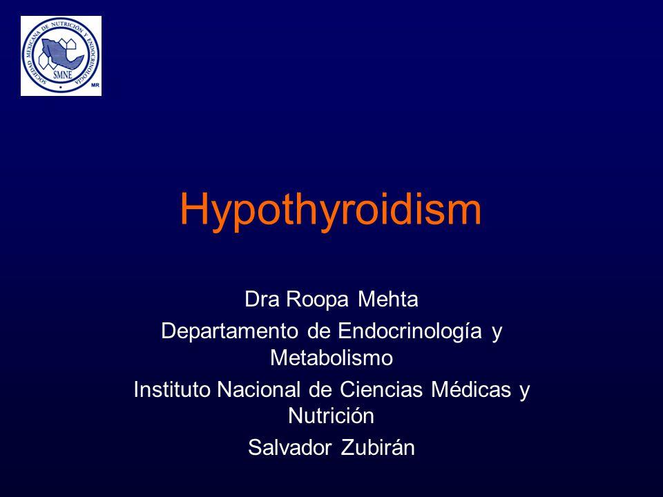 Hypothyroidism Dra Roopa Mehta