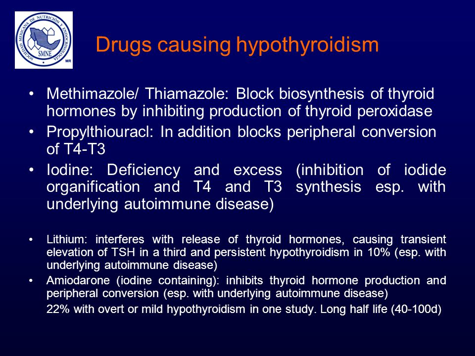 Drugs causing hypothyroidism