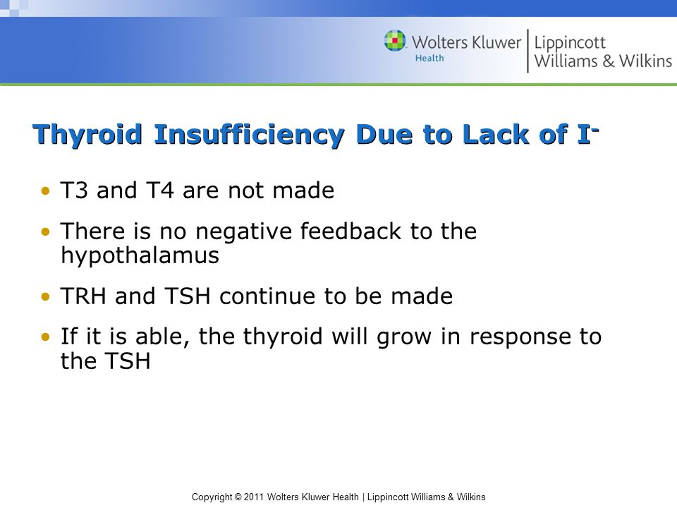 Thyroid Insufficiency Due to Lack of I-