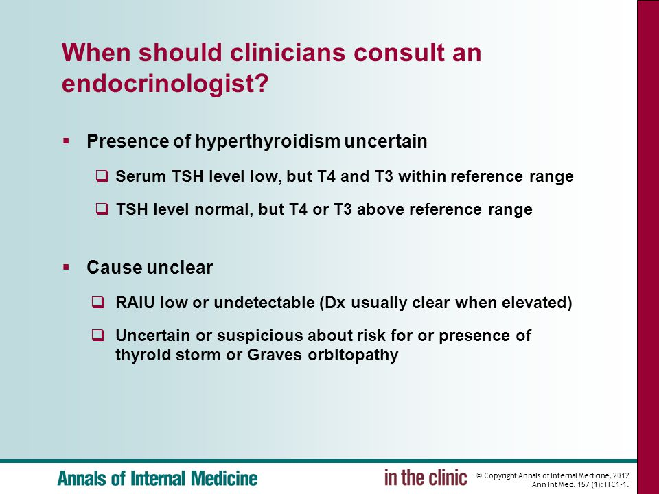 When should clinicians consult an endocrinologist
