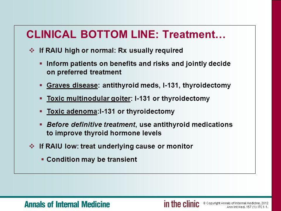 CLINICAL BOTTOM LINE: Treatment…