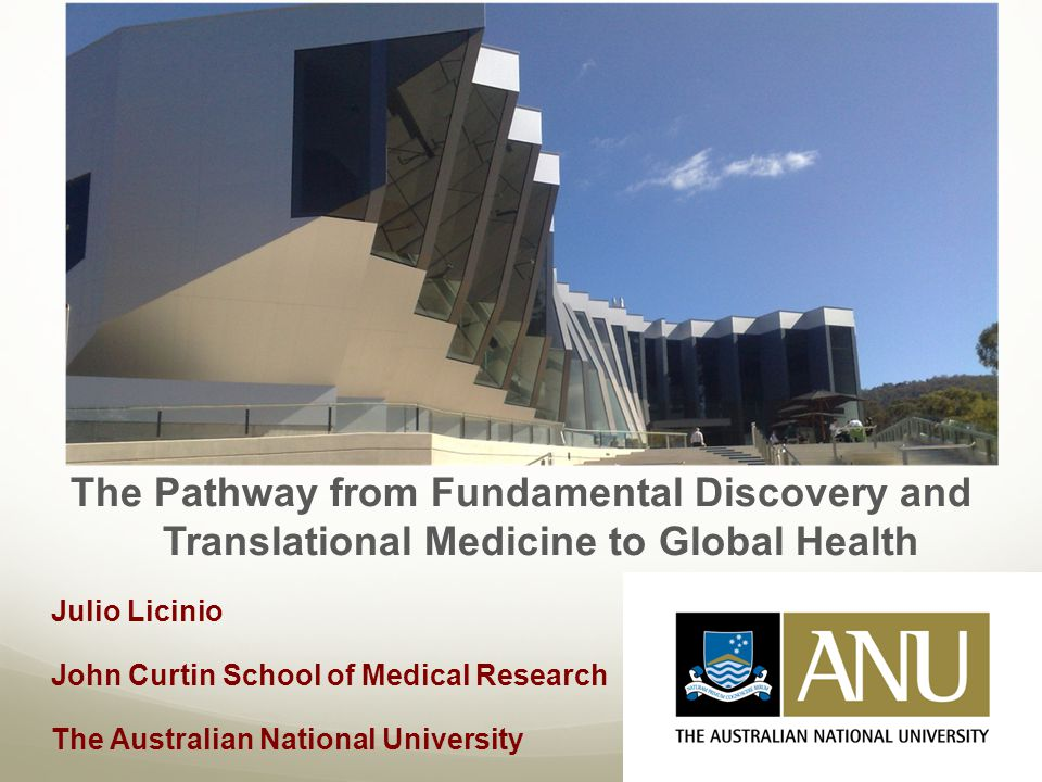 The Pathway from Fundamental Discovery and Translational Medicine to Global Health