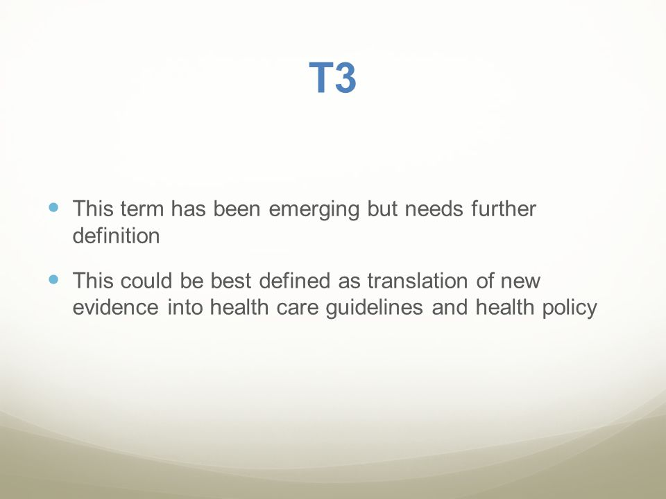 T3 This term has been emerging but needs further definition
