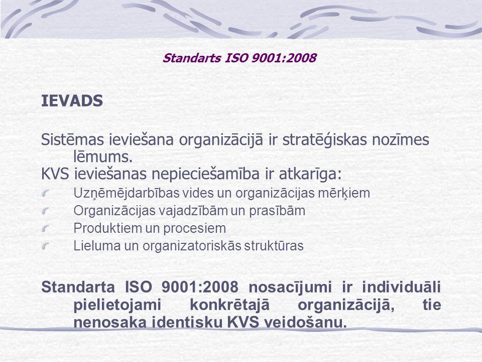 Sistēmas ieviešana organizācijā ir stratēģiskas nozīmes lēmums.