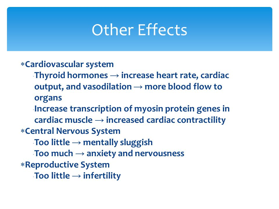 Other Effects Cardiovascular system