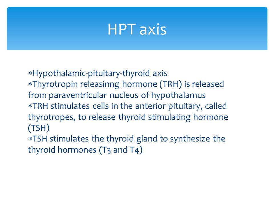 HPT axis Hypothalamic-pituitary-thyroid axis
