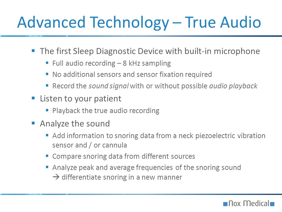 Advanced Technology – True Audio