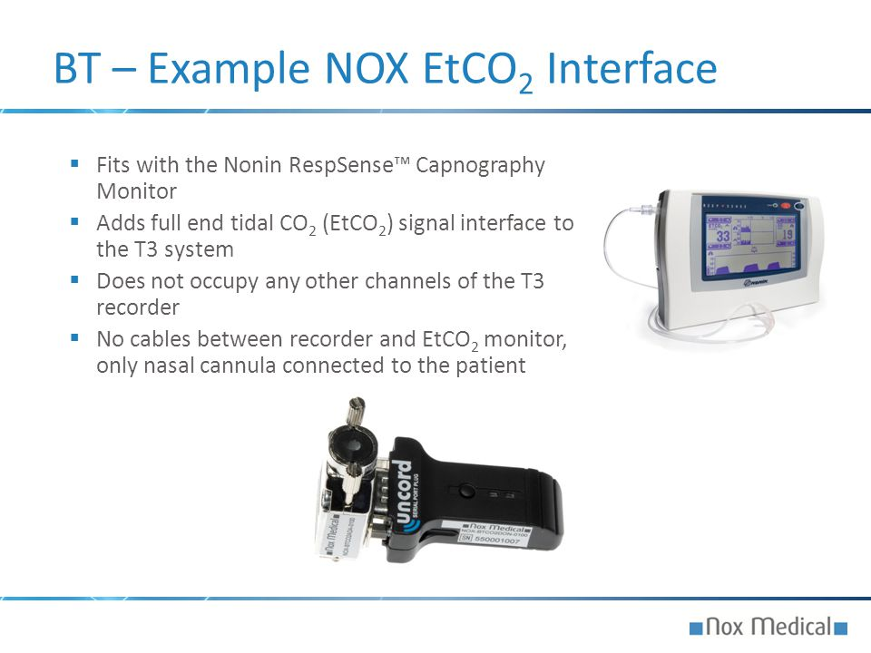 BT – Example NOX EtCO2 Interface